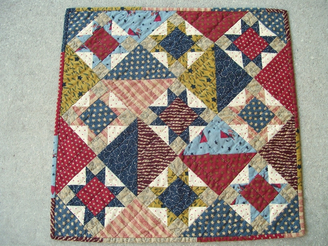 8 Pointed Star table rug-quilts for sale, pantry