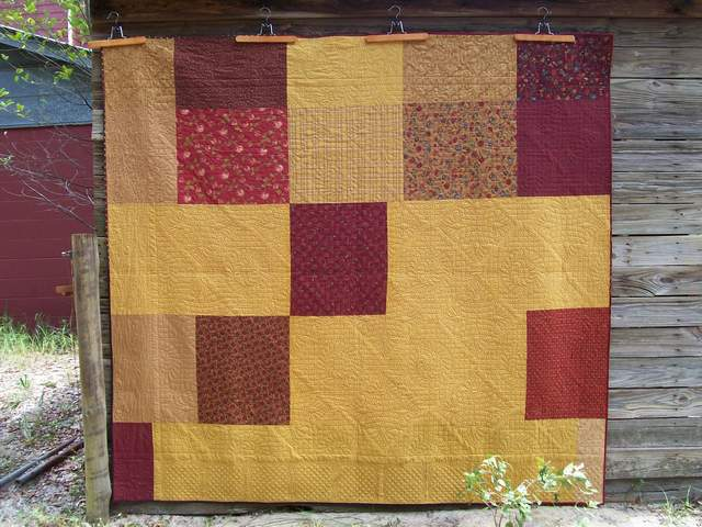 back of quilt #3, Courage