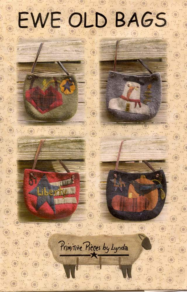 PPL049 Ewe Old Bags-prairie satchels made from either knitted/felted yarn or from wool fabric