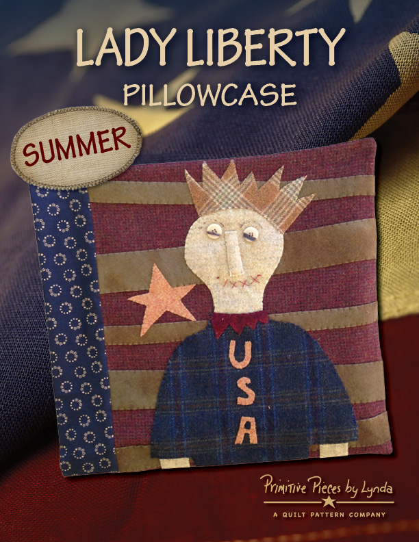 PPL093  Summer - Lady Liberty-wool, pillowcase, summer, lady liberty