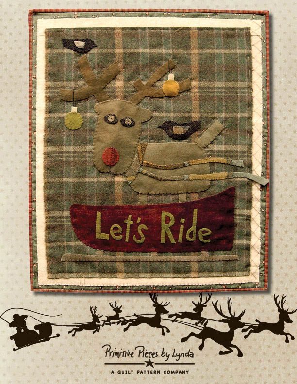 PPL083 - Let's Ride-pattern, Let's Ride, fabric, wool, applique