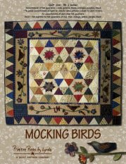 PPL064 Mocking Birds-pieced, wool, applique