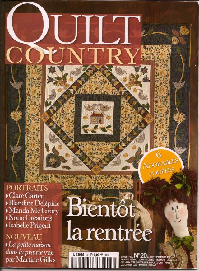 quilt country - france, magazine cover