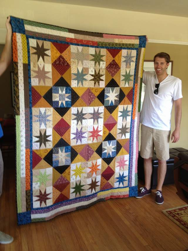 Rori's son's graduation quilt-they'll be coming around the mountain, rori's son's graduation quilt