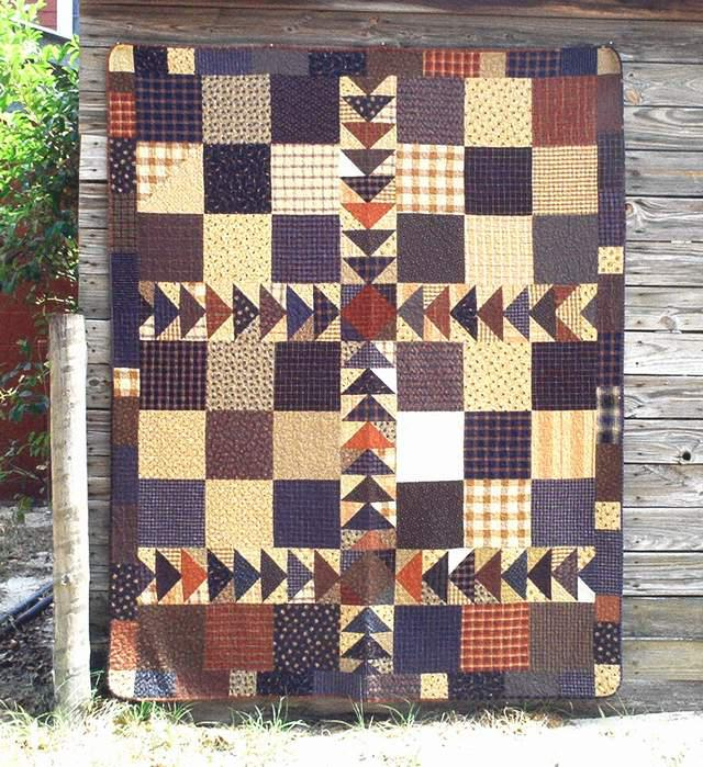 Pieced fabric quilt