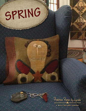 SPRING-PPL089, Spring, wool and fabric pillowcase pattern
