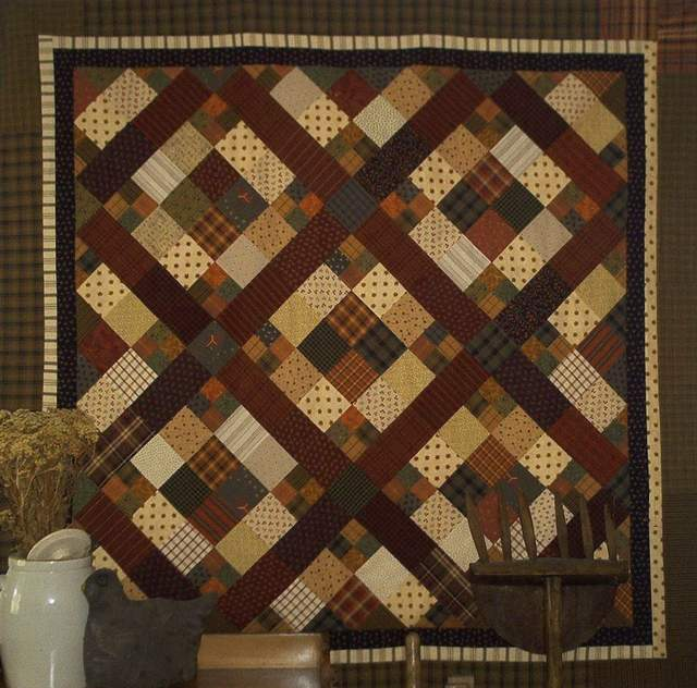 PPL022 The Old Nag, $285.00-pieced, hand quilted quilt for sale