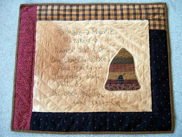 SW 18  To Make a Prairie-quilt for sale, pieced wall hanging