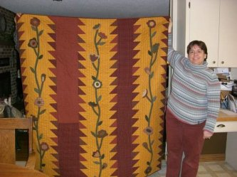 Charlene Neufield, a pattern club member sent me this picture of WILD THINGS, made by her neighbor, Arthena Voth in Dorintosh, Sask. Canada.....How fun! Thanks so much for sharing the picture. Arthena you did a great job