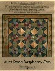 PPL007 Aunt Ree's Raspberry Jam-pieced quilt