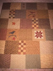 back of star quilt, coral smith, australia