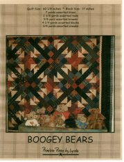 PPL017 Boogey Bears-pieced quilt