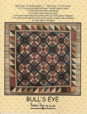 PPL062 Bulls Eye-pieced quilt