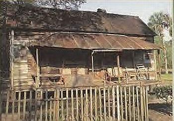 Back porch of a primitive cabin