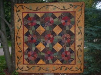 Carlene Deems sent me a picture of her Aunt Rees Raspberry Jam. I love the fabrics and colors you used. Great job!