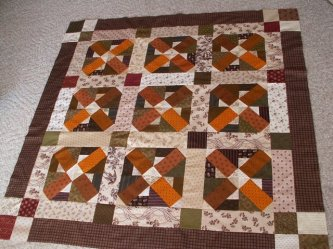 "Cathy Leitner from Tampa, Florida just finished her ""Let's Play Jacks"" quilt from the Primitive Youngins Book. How fun is that????? So, who wants to play? Thanks Cathy, it's great!"