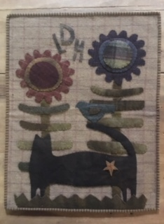 wool appliqué wall hanging and/or table topper