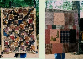 """Cheryle Harte from California sent me this picture of her """"Barnabus Barnsmell"""".........love it! Cheryl always includes a picture of the back too! I love that you share that as well. All hand quilted and ready to snuggle under. The best kind of quilt......"""
