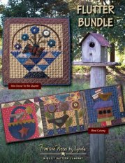 PPL075 Flutter Bundle-pieced wallhangings, wool applique