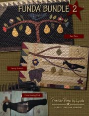 PPL071 Funda Bundle 2-pieced, small wall hangings, sewing bird