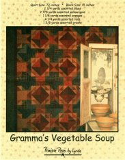 PPL015 Gramma's Vegetable Soup-pieced quilt