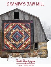 PPL077 Grampa's Saw Mill-pieced quilt