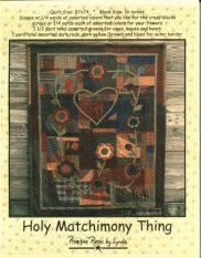 PPL028 Holy Matchimony Thing-pieced/appliqued quilt with decorative stitches