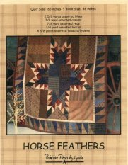 PL016 Horse Feathers-pieced quilt