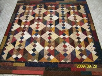 """Karen Beigh from Florida sent me this great picture of her """"Last Wrung on the Ladder"""" What a lovely quilt Karen. Thanks so much for sharing!"""