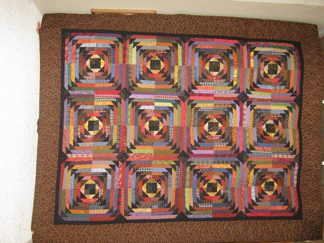 LuAnn Leonard sent me a few pictures to share of her Night Flight. She made this quilt as a wedding gift for her niece. What a special gift to receive. Great job LuAnn. She will love it.