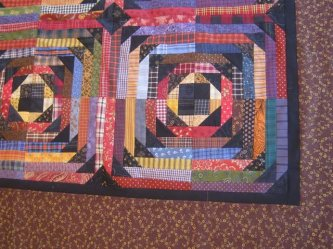 Here's a close up of LuAnn's Night Flight.....also, you can see the back of LuAnn's quilt on the back porch page. Check it out!