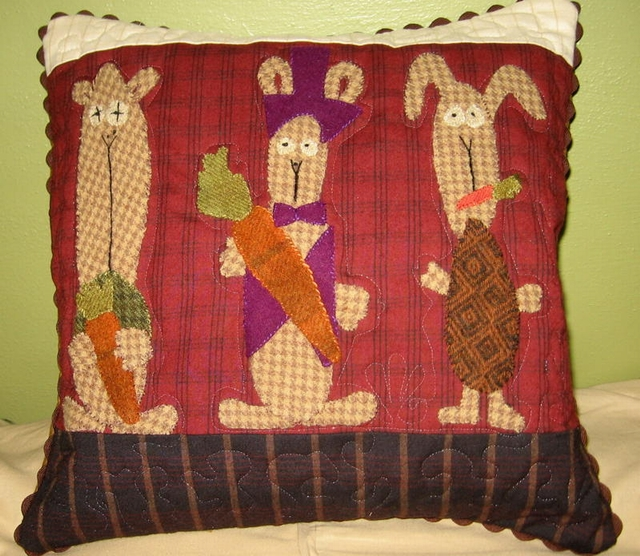 Maggey Witts - WABBITS-wabbits pillow