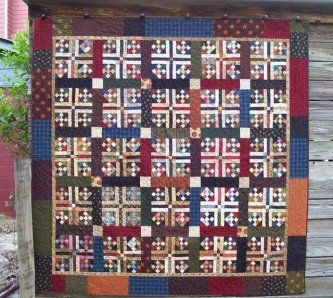 memories and miracles #1, cancer quilt 2009