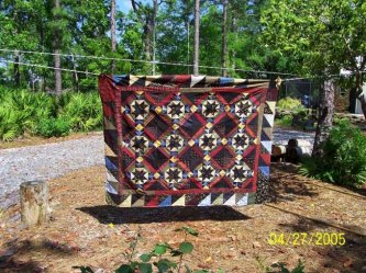Just recently I taught a class at Good Home Quilt Company in Orlando. Burning the Midnight Oil was the quilt everyone made. Nancy, from Pierson, Fla. sent me this picture of her finished top. It turned out wonderful! We had a great time that day. Thanks N