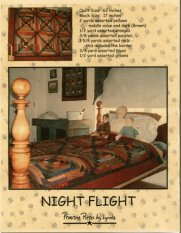 PPL003 Night Flight-Pieced Quilt
