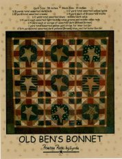 PPL027 Old Ben's Bonnet-pieced quilt