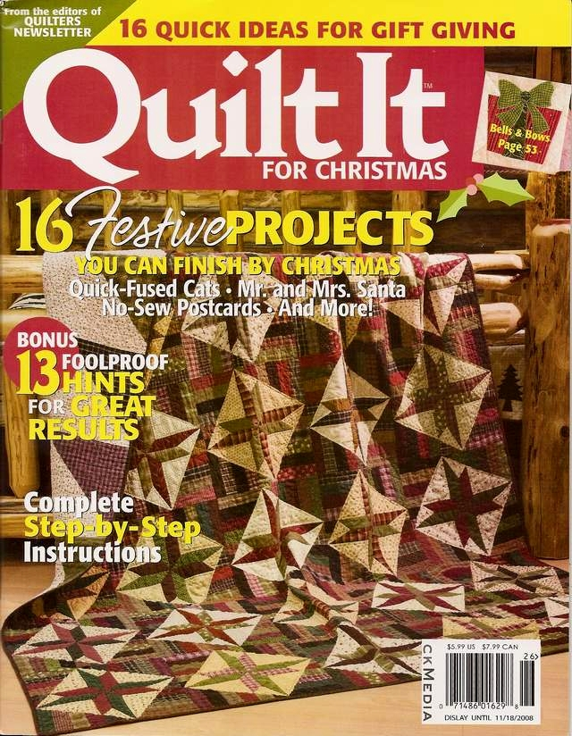 quilt it for christmas magazine cover