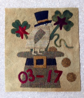 St. Patrick-wool, applique, kit, for sale