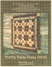PPL025 Pretty Pansy Posey Patch-pieced/applique quilt