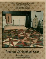 PPL014 Prairie Christmas Star-pieced quilt