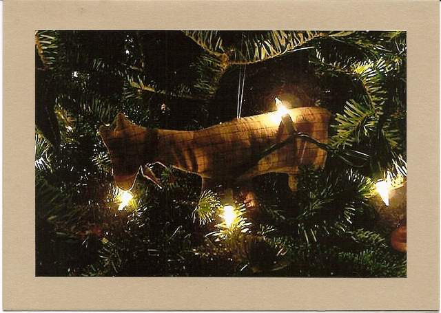 horse ornament on christmas tree