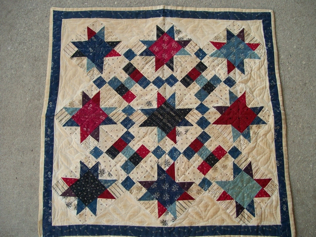 QS 08  Stars Table mat-pantry, stars, quilts for sale