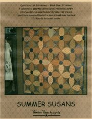 PPL008 Summer Susans-pieced quilt with appliqued centers
