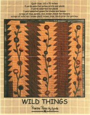 PPL020 Wild Things-pieced/applique quilt